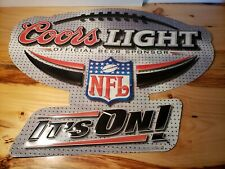 Colors Light Nfl It'S On! Metal Tin Beer Sign For Man Cave Game Room & Bar 32� W