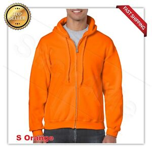 man's GILDAN Heavy Fleece full zipper Hooded Sweatshirt Hoodie G18600  S-5XL