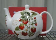 Strawberry Fayre Teapot BNIB Fine China Strawberry Pattern Teapot