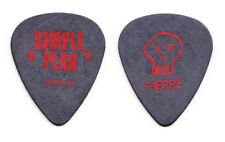 Simple Plan Pierre Bouvier Signature Black Guitar Pick - 2011 Tour