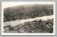Killarney Ontario RPPC Rare Aerial Vintage Photo Postcard—Sudbury ca. 1946