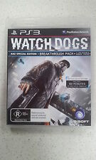Watch Dogs ANZ Special Edition Sony Playstation 3 PS3