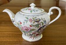 AYNSLEY PEMBROKE Teapot w/ Lid English Bone China Gold TrimRepaired Not Usable