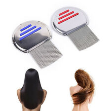 1x hair lice comb brushes terminator egg dust nit free stainless steel J9L