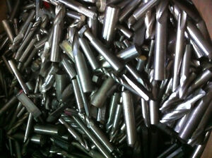 3 lbs of used solid carbide end mills
