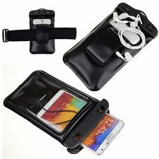 Black Music Waterproof Case Bag Underwater Earphone for Samsung Galaxy S6 Active