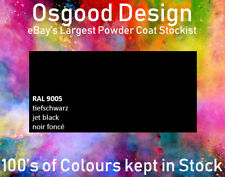 BLACK MATT FINE TEXTURE STIPPLE RAL 9005 1kg Powder Coat WHEEL REFURBISHMENT