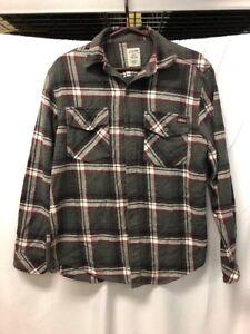 Genuine Dickies Long Sleeve Button Down Plaid Shirt Mens Sz S/P (34-36)