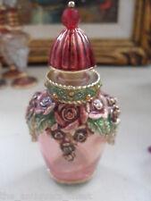Vintage Art Deco MONET Enamel Glass Perfume Bottle[[a4perfbox]