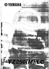 Yamaha service workshop manual 2000 YZ250 YZ250(M)/LC