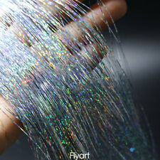 9 Assorted Colours Laser Holographic Flashabou Tinsel Flash Fly Tying Materials
