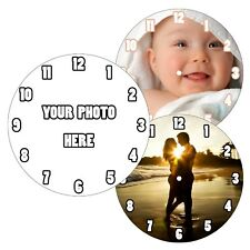 Personalised Custom CD Wall Clock Own Image Photo Design Picture Company Logo