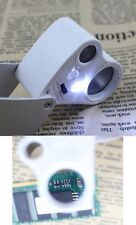 Jewellers Eye Jewelry Lens Glass Loupe 30x & 60x Magnifier Magnifying LED Light