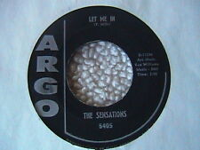 "THE SENSATIONS ""LET ME IN"" / ""OH YES I'LL BE THERE"" 7"" 45 R & B SOUL FUNK"