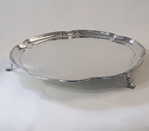 Very good quality Sterling Silver footed salver