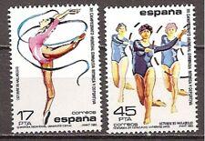 Spain Edifil #2811/2812 MNH World Championship Gymnastics