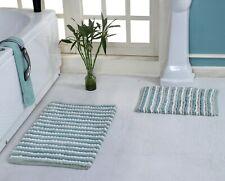 "100% Luxurious  Cotton Hand Woven Chenille 2pc Bath Rug Set 21""x34""/17""x24"""
