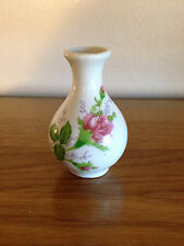 """COLLECTABLE - 3"""" HAND PAINTED BUD VASE- BEAUTIFUL DELICATE ROSES!"""