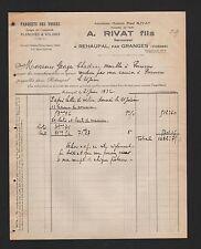 REHAUPAL, Rechnung 1932, A. Rivat Fils Parquets des Vosges