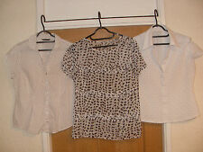 3 x M&S BLOUSES GOOD FOR WORK S 12 USED BUT CLEAN AND GOOD TO GO STYLISH DAYWEAR