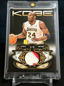 Kobe Bryant 2012-13 Panini Anthology #50 Gold Parallel Game Worn Patch 6/8 RARE!