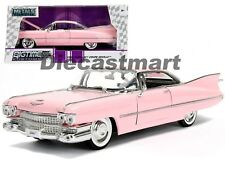 Cadillac Coupe 1959 Pink White Wall Tires Model Car 1 24 Jada Toys