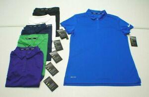 Nike GOLF Women's S/M/L/XL DRI-FIT Moisture Wicking Polo Shirt - 6 Colors NEW