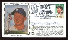 MICKEY MANTLE Signed Authentic 1989 First Day Cover FDC New York Yankees