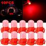 10 pcs T3 Neo Wedge Red LED Instrument Cluster Dash Panel Climate Light Bulb 12V