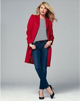 Pure Collection Cashmere Blend Coat Red Size UK 8 RRP £299 Box46 03 B