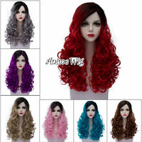 Lolita 16 Colors 60CM Long Curly Hair Women Halloween Party Anime Cosplay Wig