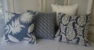 Mix & Match New Hamptons Blue Jacquard Cushion Cover 45cm