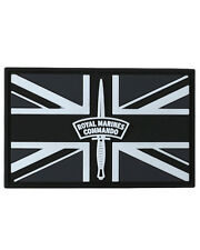 Royal Marines Commando Union Jack Rubber Badge Military Tactical Patch Hook