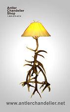 REAL ANTLER ELK FLOOR LAMP Rustic Lamps, Real Antler, ACS Lights, Chandelier SC1