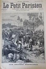 MANOEUVRE MILITAIRE / SOLDATS EGYPTIENS KHARTOUM GRAVURE LE PETIT PARISIEN 1898