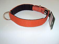 "Hundehalsband Nappaleder/Textil Reflekt in orange 55 cm von Hunter ""NEU"""