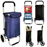 Einkaufstrolley Einkaufswagen Trolley Einkaufsroller Aluminium klapp tasche BLAU