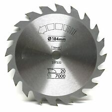 184mm sega circolare TCT Lama 184 x 16 20T BOSCH DEWALT SKIL..
