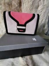 Van Dal Suede Blush Pink/Black/Salmon Shoulder Bag - Brand New