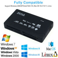 Mini 26-IN-1 USB 2.0 High Speed Memory Card Reader Adapter For CF XD SD MS SDHC