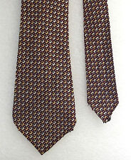 Trias Check tie Vintage 1950s Terylene White Burgundy gold short RATHER TATTY
