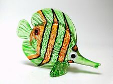 Coastal Style Miniature Hand Blown Art Glass Angel Fish Figurine Collection