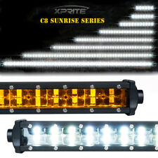 Xprite Philips LED Light Bar Double Row Amber Backlight for Off-Road Jeep Truck