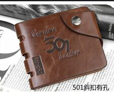 HIGH Mens Genuine Leather Bifold Wallet Credit/ID Card Holder Slim Coin Purse