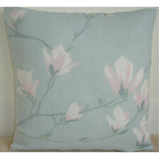 "Laura Ashley Magnolia Grove Duck Egg 16"" Cushion Cover Pink 16x16 NEW"