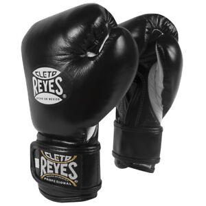 Cleto Reyes Youth Hook and Loop Boxing Gloves - Black