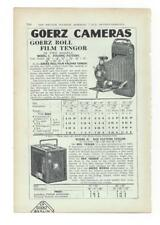 A 1925 Photgraphic/Camera Advertisment - Goerz Camera - Price List.