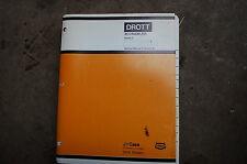 CASE DROTT 35 Crawler Excavator Trackhoe Service Repair Shop Manual owner book
