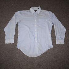 David Harrison Mens Large Light Blue Collared Button Up Dress Shirt
