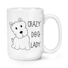 Crazy Dog Lady 15oz Mighty Tazza-Puppy Terrier Cagnolino Divertente BIG GRANDE